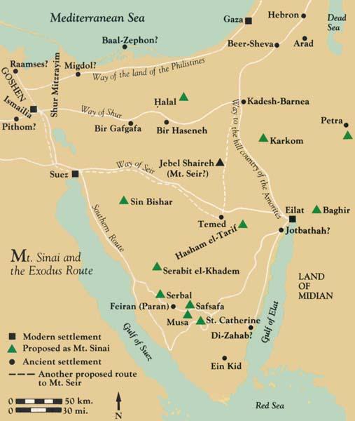 The Route Through Sinai Why the Israelites Fleeing Egypt Went