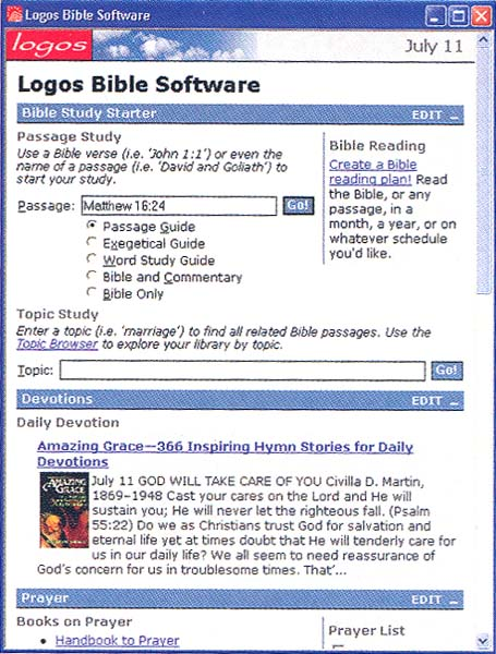 Bible Study Software · The BAS Library