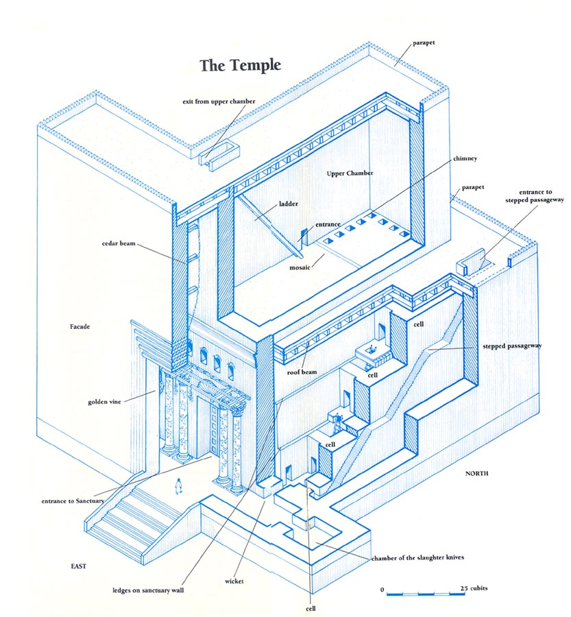 king herod\'s temple diagram reconstructing the magnificent temple herod built    the bas library  magnificent temple herod built